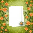 Grunge paper for congratulation — Stock Photo