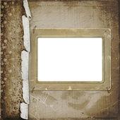Photoframe op de abstracte achtergrond — Stockfoto