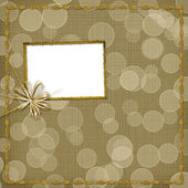 Frame for invitation with bow — Stock Photo