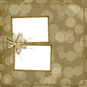 Frame for invitation with ribbon — Stock Photo