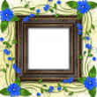 Wooden frame in the Victorian style - Stock Photo