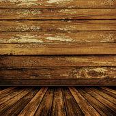 Oude kamer met versleten behang — Stockfoto