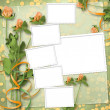 Royalty-Free Stock Photo: Grunge paper for congratulation