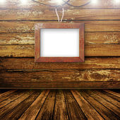 старый номер, интерьер гранж с рамкой — Стоковое фото