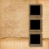 Granica ramki drewniane — Zdjęcie stockowe
