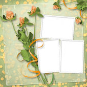 Paper for congratulation with bunch — Stock Photo