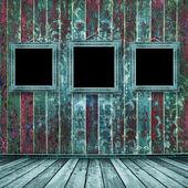 Velho estilo vitoriano de quadros turquesa — Fotografia Stock