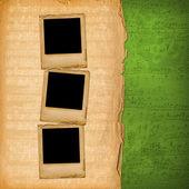 Grunge dia's uit oude papieren — Stockfoto