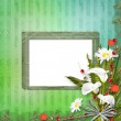 Grunge frame with bunch of flower — Stock Photo