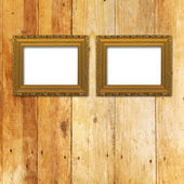 Old room, grunge interior with frames — Photo