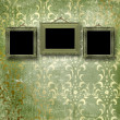 Old gold frames Victorian style - Foto de Stock  