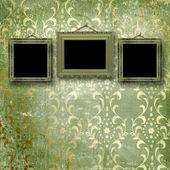 ビクトリア朝様式の古いゴールド フレーム — ストック写真
