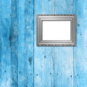 Old room, grunge interior with frame — Stock Photo