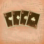 Grunge gold playing cards — Stock Photo