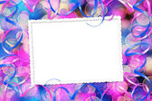Frame multicolored background with bokeh — Stock Photo
