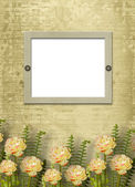 Paper frame on the grunge background — Stock Photo