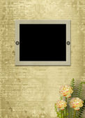 Paper frame with flowers — Stock Photo