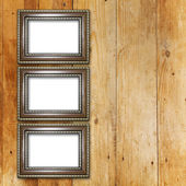 Starý pokoj, grunge interiér s rámy — Stock fotografie