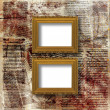Royalty-Free Stock Photo: Old grunge frames Victorian style