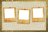 Old grunge paper slides — Stock Photo