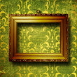 Old gold frame Victorian style — Stock Photo