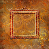 Wooden frame in Victorian style — Stock Photo