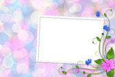 Çok renkli arka plan üzerinde kart — Stok fotoğraf
