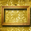 Old gold frame Victorian style - Foto de Stock  