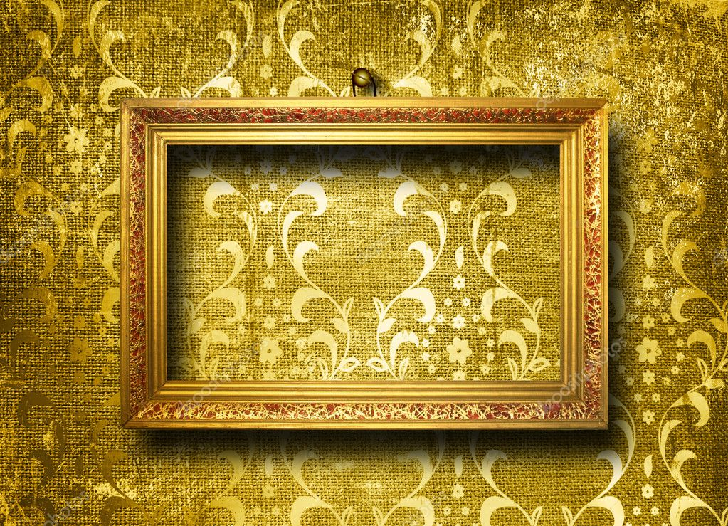 Old gold frame Victorian style � Stock Photo � Loraliu #3435384