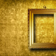 Stock Photo: Old gold frame Victoristyle