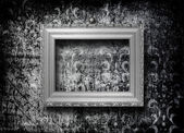 Old silver frame Victorian style — Stock Photo