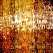 Grunge houten muur met letters — Stockfoto
