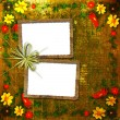 Congratulation to the holiday with frame — 图库照片