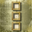 Antique clock face with frame — Foto Stock