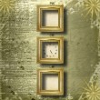 Antique clock face with frame — Stock Photo