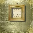Antique clock face with frame - Stock Photo