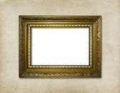 Wooden frame on the abstract paper background — Stock Photo