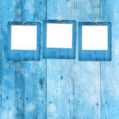 Grunge paper frame on the wooden background — Stock Photo