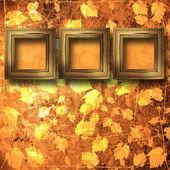 Grunge çerçeve barok tarzı ile iç — Stok fotoğraf