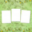 Grunge paper frames with flowers pumpkins on the abstract stars — Stock Photo
