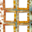 Foto de Stock  : Old grunge frames on blur boke background