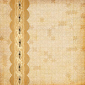Vintage album with frame and ornate lace — Stock Photo