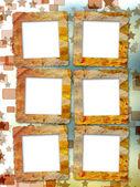 Gamla grunge ramar på blur boke bakgrunden — Stockfoto