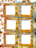 Old grunge frames on the blur boke background — Foto Stock