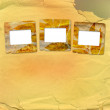 Stock Photo: Old grunge frames on the abstract paper background
