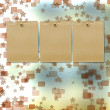 Foto Stock: Old grunge frames on blur boke background