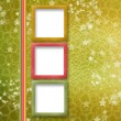 Multicoloured holiday frames for greetings or invitations — Stock Photo #3765980