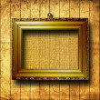 Grunge  interior with frame in style baroque - Zdjcie stockowe