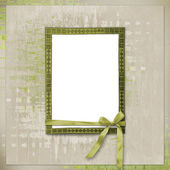 Card for invitation or congratulation in scrapbooking style desi — Stock Photo