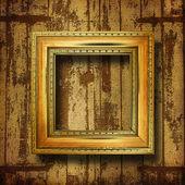 Alte zimmer, grunge-interieur mit frames im barocken stil — Stockfoto
